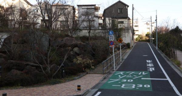 神奈川県の坂の多い地形